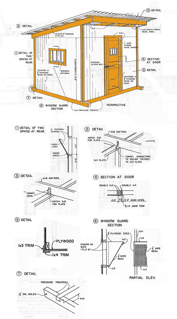 10 215 12 Lean To Storage Shed Plans How To Construct A