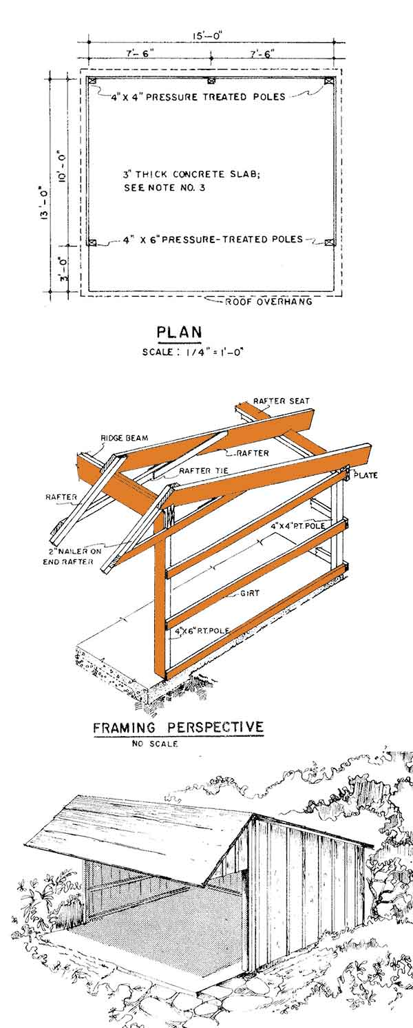 13 16 Loafing Shed Plans Build Your Own Run In Shed